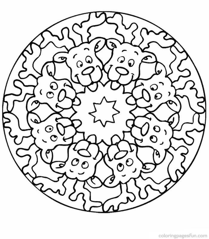 printable christmas mandalas coloring pages